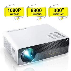 Vidéoprojecteur, ELEPHAS 6800 Lumens Rétroprojecteur 1080P Natif 1920×1080 Full HD Projecteur LED Portable Multimédia Home Cinéma Présentation PPT