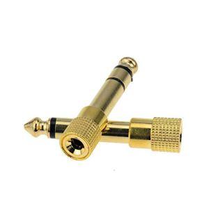 2 adaptateurs [plaqué or] de jack 6,35 mm mâle vers jack 3,5 mm femelle