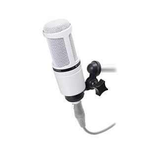 Audio-Technica AT2020 Microphone Cardioïde à électret, Blanc