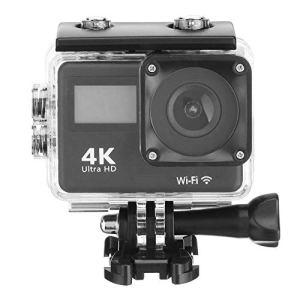 Caméra d'action 4K Tactile Sport Double Écran DV WiFi Télécommande Caméra Extérieure De Plongée Étanche Caméra HD,Noir