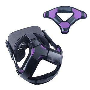 Eyglo Sangle de Tête pour Oculus Quest VR Casque Réduire la Pression de la Tête Protéger la Tête Oculus Quest Accessoires Confortable Headband Head Strap (Purple)