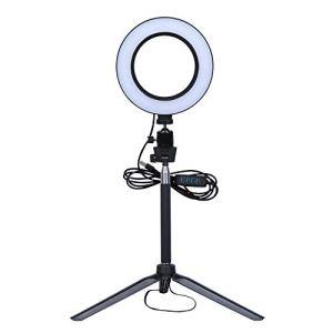 HaavPoois LED Selfie Ring Light Dimmable LED Ring Lamp Phone Light Ring Light Fill Light with Telescopic Bracket Photo Video Camera