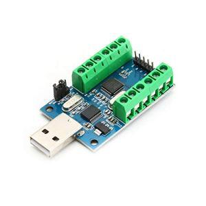 Interface USB STM32, Acquisition de données d'échantillonnage AD 12 Bits et 10 canaux, Module ADM de Communication UART STM32 – Bleu