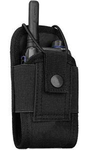 Kyrio Molle Étui pour talkie-walkie ceinture résistante radio holster tactique chasse interphone pochette interphone