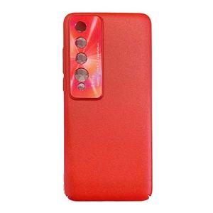 NiaCoCo Compatible avec Xiaomi Redmi 10 Coque de Protection Coque Rigide en Silicone PC Antichoc Très Mince Anti-Rayures Étui pour Téléphone+1PCS Protecteur D'écran – (Rouge)