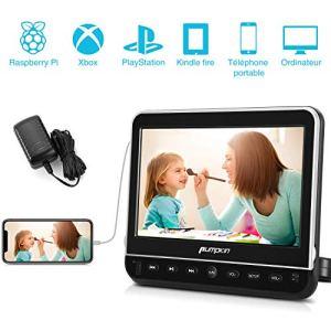 Pumpkin Lecteur DVD pour Voiture 10,1 Pouce Ecran d'appui tête Equipé Chargeur Mural Compatible avec MKV/MP4,Supporte HDMI Input Région Libre USB SD avec Câble AV