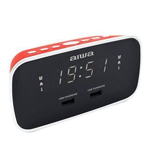 Radio-réveil AIWA CRU-19RD couleur rouge, numérique, USB Charge