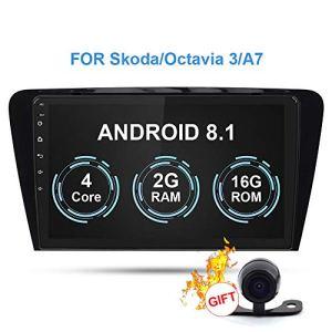 RISHENG Lecteur multimédia de Voiture approprié DVD A7 III / 2din Android 8.1 Radio Navigation GPS Automatique caméra arrière – pour Mingrui 2014-2018,B