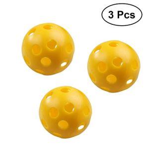 VORCOOL Balles de Golf Creuses d'écoulement d'air de balles d'entraînement en Plastique pour la Pratique de Golf Jaune