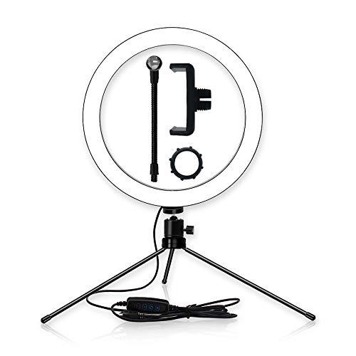 Adanse Trépied support de téléphone avec anneau LED 26 cm pour appareil photo photo photo annulaire lampe studio photo photo photo photo studio photo photo photo studio studio