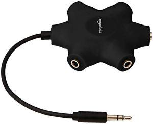 AmazonBasics Répartiteur audio 5 casques, Noir