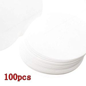AYUN 100pcs Vitesse Moyenne de qualitative Cercle Feuille Filtre Livre Blanc 12.5cm Dia qualitatif Filtres Papier