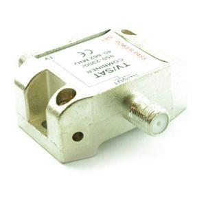 CDL Micro Câble combiné d'antenne/Satellite Duplexer Connecteur F Femelle – Nickel