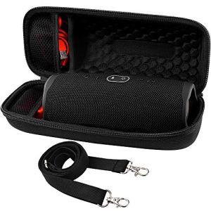 Comecase Étui de transport rigide pour enceinte Bluetooth étanche JBL Charge 4 Compatible avec chargeur et câble USB