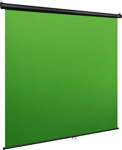 Elgato Green Screen MT – Fond vert rétractable pour incrustations, toile anti-plis ultra résistante (DuPont Dacron), installation facile au mur ou au plafond – Large (200 x 180 cm)