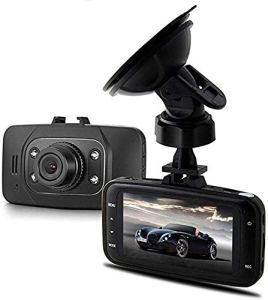 Enregistreur vidéo HD 1080p pour voiture DVR avec écran 2,7 pouces grand angle 170° Grand angle Enregistrement en boucle G-sensor Détection de mouvement Moniteur de stationnement Noir