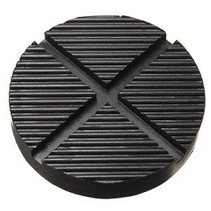 Forspero Noir En Caoutchouc Voiture Camion Croix Fendue Cadre Rail Plancher Jack Disk Pad Adaptateur