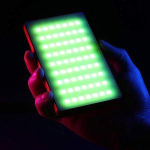 Ganquer Lampe vidéo LED, avec écran OLED Photographie Couleur RVB en Studio 2500K 8500K dimmable, 3.85V / 4000mAh Rechargeable USB, Utiliser pour photographier Vlog tiktok Youtube Live