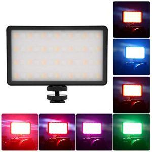 Garsentx Lumière vidéo RVB LED, RB08P RVB Pleine Couleur sur la lumière de la caméra, Panneau Lumineux à Double température de température pour Youtube SLR Camera Studio Outdoor Video