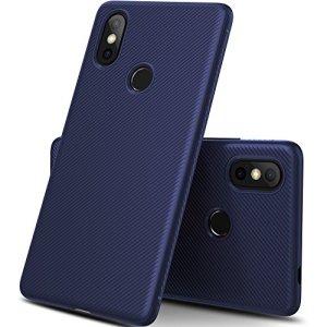GeeMai Coque Xiaomi Mi 8 Se, Ultra Mince Silicone Cas Solide, Durable, Anti-Chute, antidérapant Cas Souple TPU Cas Mobile Téléphone Case pour Xiaomi Mi 8 Se Smartphone(Bleu)