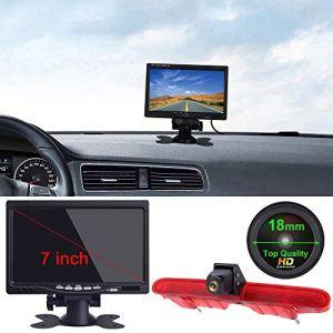 HD 1280 * 720 Pixel Voiture Troisième Lampe Frein Vue arrière Caméra de recul Vision Nocturne+7″ LCD Monitor pour Transporter Van Peugeot Partner 2 II Tepee Rifter Citroen Berlingo 3 III 4 IV B9