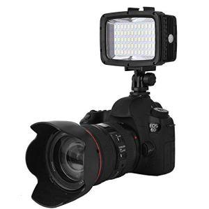JULYKAI Cacorder LED, 40m / 130ft plongée étanche sous-Marine 60 LED Lampe de Remplissage de lumière vidéo pour Appareil Photo et Smartphone Accessoire téléphone LED lumière vidéo