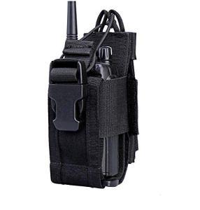KEESIN Étui de Rangement en Nylon Sac avec Porte Poche Réglable pour 2 Voies Radio Étui pour Talkie Walkie(1 Paquet)