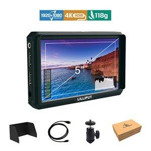 Lilliput A5 5 pouce 1920×1200 IPS 441ppi Ecrans Moniteur Caméra Field Monitor 4K HDMI Input output DSLR Camera A7 A7R A7S III A9 A6500 GH5 G5s 5D IV Zhiyun Crane 2 M Ronin-S