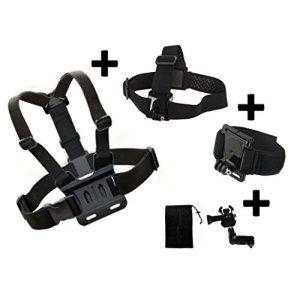 Lot de 3principaux Accessoires–Coffre Tête Sangle de poignet pour KitVision Escape 4kW Hd5W HD5Caméra d'action Generic Compatible avec KitVision Escape Caméra d'action