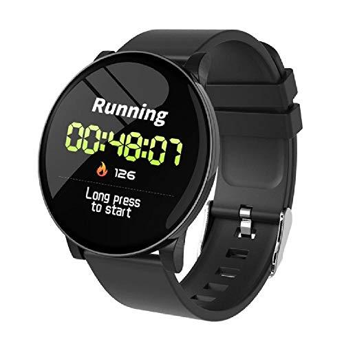 LQLQ Smart Montre pour Les Hommes et Les Femmes, avec Moniteur de fréquence Cardiaque, imperméable à l'eau, téléphone, Pense-bête Météo, Fitness Watch, Bluetooth Smart Montre,A