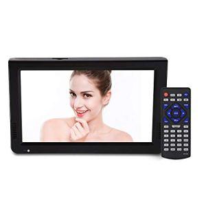 Nunafey Support de Conception de Mode Ultra Mince USB, Carte TF, télévision numérique, 1024 x 600 10 Pouces HD Couleur TFT LED 10 Pouces TV, pour la Maison pour Le Voyage
