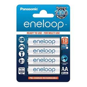Panasonic BK-3MCCE/4BE eneloop 1900mAh Lot de 4 piles Ni-MH AA/Mignon/LR6 prêtes à utiliser