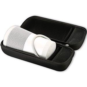 ProCase Housse de Transport Bose SoundLink Revolve, Sac de Voyage Étanche aux Chocs pour Haut-Parleur Bose SoundLink Revolve + Plus, Compatible avec Un Chargeur Mural et Un Câble USB –Noir