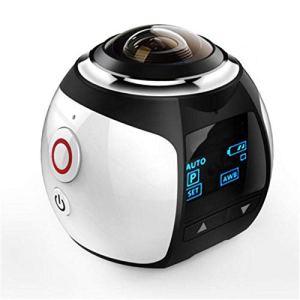 QAS 360 caméra panoramique – enregistreur de Conduite caméra sous-Marine VR – caméra numérique de Mouvement caméra – 360 Sports DV,Blanc,A