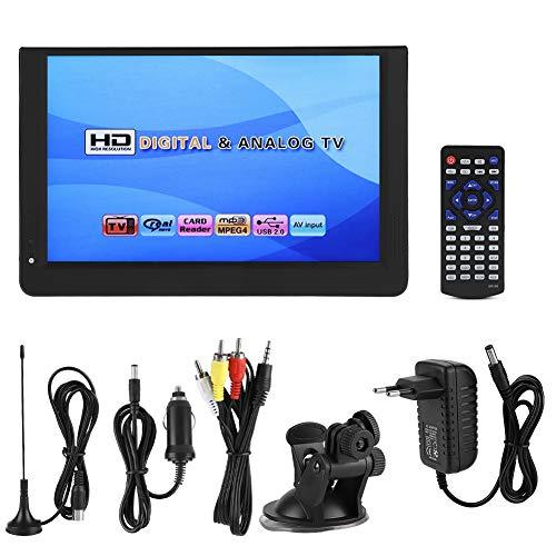 Socobeta Lecteur de télévision de Poche Portable Mini 1080P 12 Pouces 16: 9 LED Lecteur de télévision numérique DVB-T/T2 de Poche
