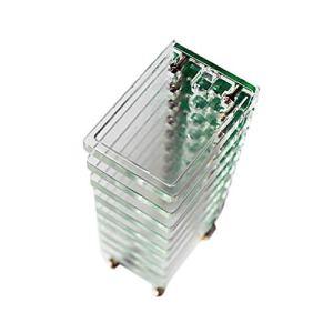 TOOGOO DIY VU MèTre 10 Niveau Colonne LumièRe LED Professionnel éLectronique Cristal Contr?Le Sonore Musique Spectrum pour CinéMa de la Maison