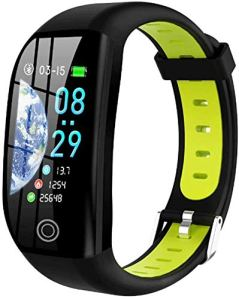 XXCLZ Smart Bracelet, Fitness Tracker, 1,14 « Sports Waterproof Watch, avec Le Sommeil/Sang Pression Moniteur Smart Bracelet Wristband avec GPS,A
