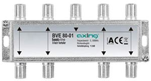 Axing BVE 80-01 splitter distributeur repartiteur 2 voies sorties pour FM CATV télévision numérique par câble (5-1000MHz)