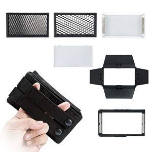Boling Kit de Accessoires d'éclairage pour BL-P1 RGB LED, avec Nid d'abeille, Softbox, Diffuseur Souple, Barndoor et Sac de portable compatible avec BL-P1