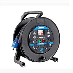 Enrouleur de câble Enrouleur de câble d'extension de 25 m 220V avec prise 10 AMP Entrée à 4 prises secteur UK Rallonge de rallonge 13A à 10A Rallonge rétractable Support de rallonge de bobine (Taille