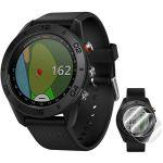Garmin Approach S60 Lot de 2 montres de golf noires avec bracelet noir (010-01702-00) + Deco Essentials Approach S60