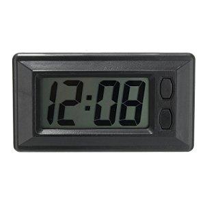 GOZAR Horloge Ultra-Mince De Tableau De Bord De Voiture De Digital D'Affichage À Cristaux Liquides Avec L'Affichage De Calendrier