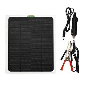 Panneau solaire portable 5W 12V, Panneau solaire étanche IP65 avec clip, panneau solaire, double interface de bus USB, pour le cyclisme en plein air, l'alpinisme, la randonnée, le camping, le tourisme