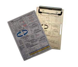 Plaque VFR et IFR Crystal Pilot Large: Aluminum clipboard + 2020 VFR-IFR Placard