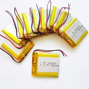 rpbll 10 pièces 3.7 V 300 mAh Lithium polymère li ION lipo Batterie Rechargeable 303035 pour MP3 MP4 GPS DVD Pad Bluetooth Casque caméra
