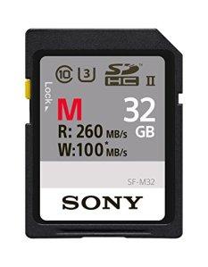 Sony SF32M Carte mémoire SD UHS-II SDHC 32Go (Vitesse de lecture jusqu'à 260Mo/s et vitesse de l'écriture 100Mo/s)