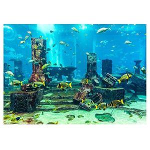 SunshineFace Fond D'aquarium de Corail Autocollant de Décorations Murales d'affiche sous-Marine de Réservoir de Poissons