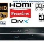Toshiba DVR20 Enregistreur DVD/vidéo avec Freeview intégré (725/643) Lot de 10 DVD enregistrables gratuits