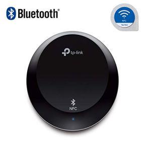 TP-Link Récepteur audio Bluetooth 4.1 avec technologie NFC (pour smartphones/tablettes) + prise RCA 3.5mm pour diffusion de votre musique sur votre chaine Hi-Fi et Haut-parleur stéréo (HA100)