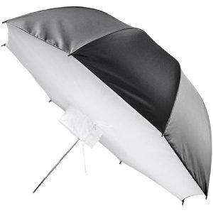 Walimex Pro Boîte à lumière réflecteur Parapluie, 109cm (idéal pour la Photographie de Portraits et Produits)